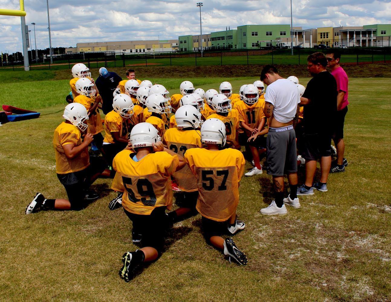 Middle School Football Practice