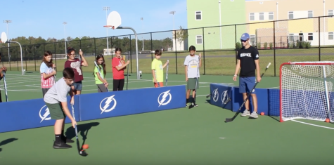 The Lightning visit the Middle Schoolers